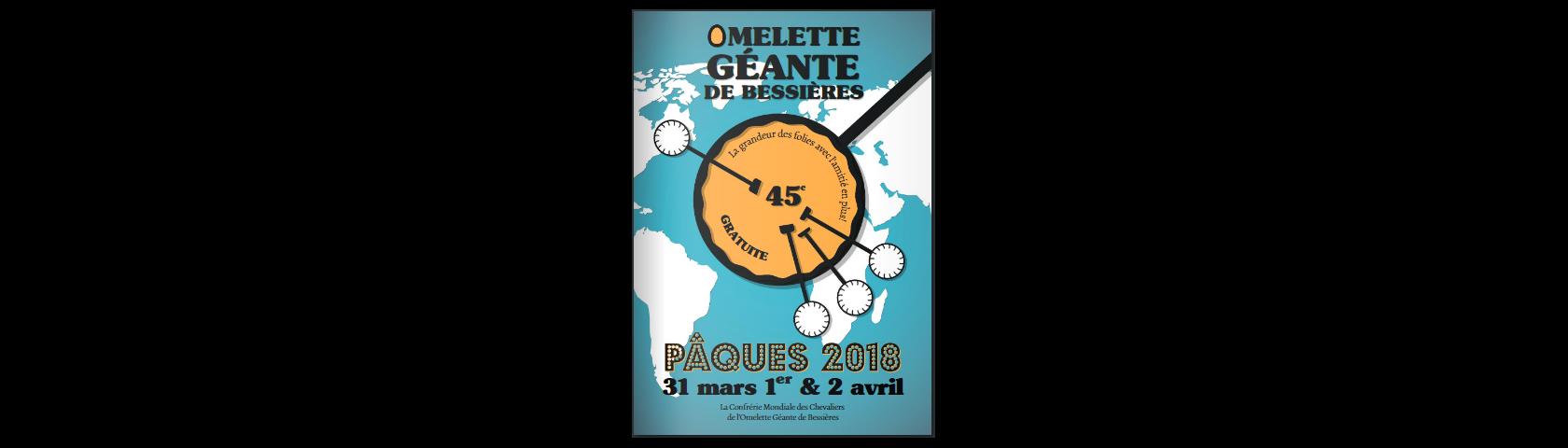 Brochure de l'Omelette Géante de Bessières - 2018